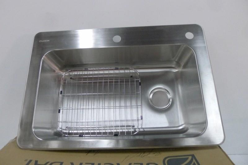 ... GLACIER BAY 18 Gauge Large Single Bowl Kitchen Sink, Model 1001 812 471  ...
