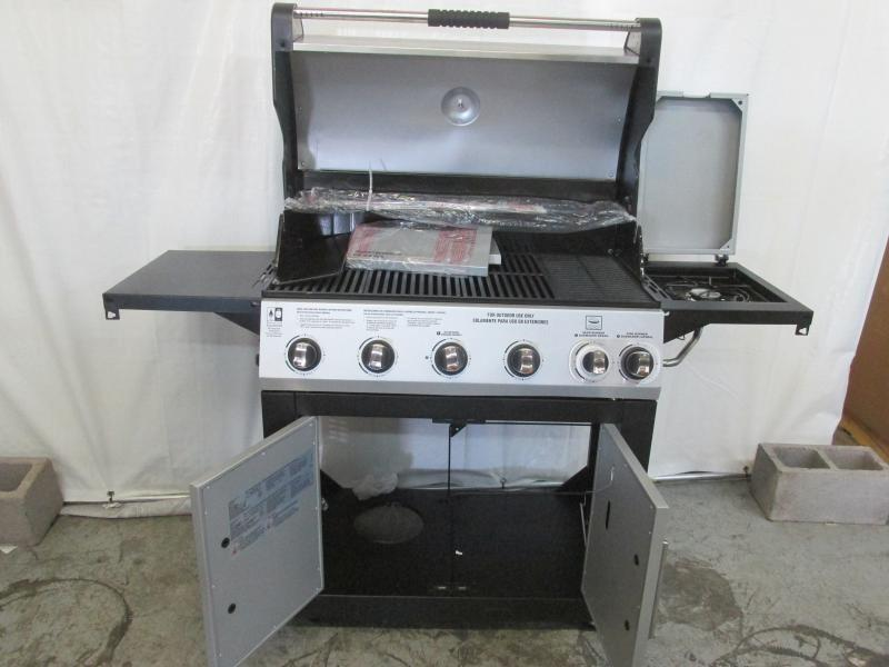 Brinkmann Select Dual Sear 5 Burner Gas Grill Model 810 6630 S New Opened For Assembly Auction Auction Nation