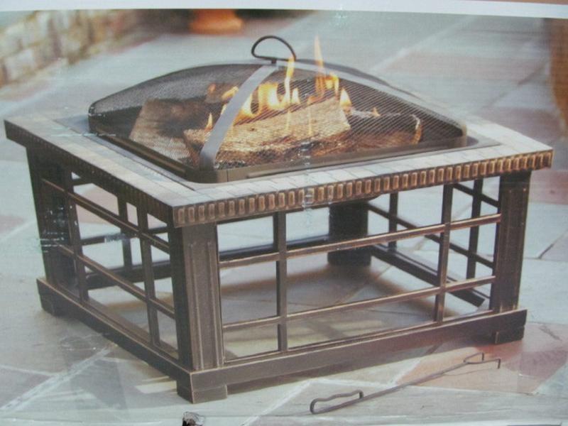 ... HAMPTON BAY WoodSpire Outdoor Fire Pit, Model 1000 048 060 ...