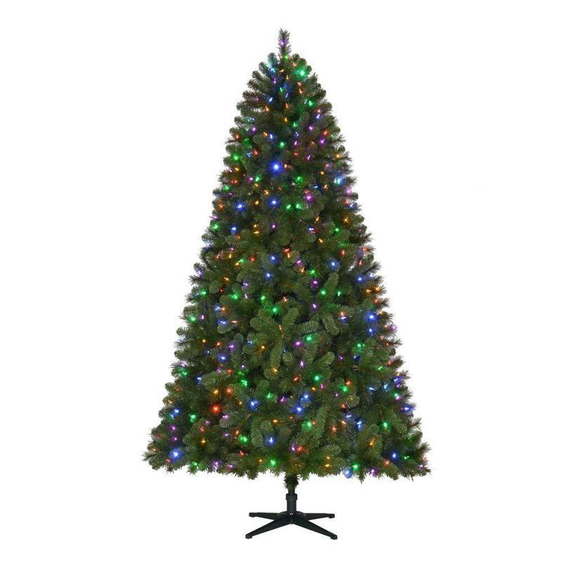 home accents holiday 75 ft pre lit led wesley spruce quick set artificial