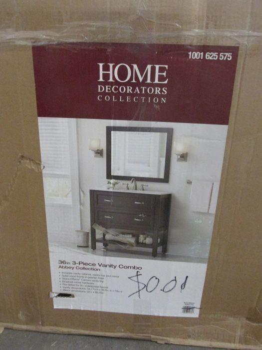 Delightful Auction Nation   Auction: GLENDALE General Merchandise Online Auction  4/8/17 ID: 4178 ITEM: Home Decorators Collection 36 Inch 3 Piece Vanity  Combo Model ...