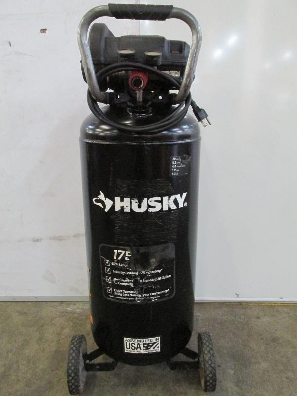 175 PSI Portable Air Compressor Husky 20 Gal