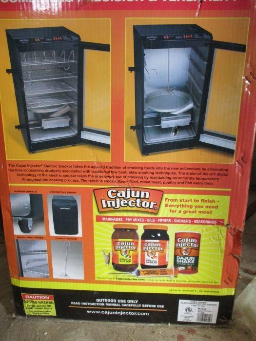 22174.01709 · Cajun Injector Glass Door Electric Smoker Mod.