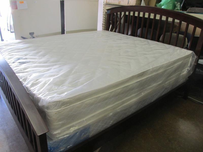 California king mattress double pillow top