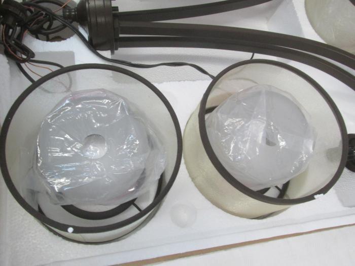 Auction nation auction phoenix lighting supply auction 32716 id hampton bay moroka dark bronze finish with etched glass inner shades 5 light chandelier aloadofball Choice Image