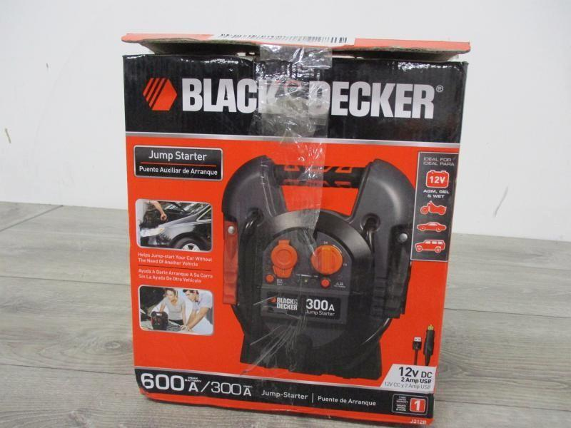black and decker 500 amp jump starter manual