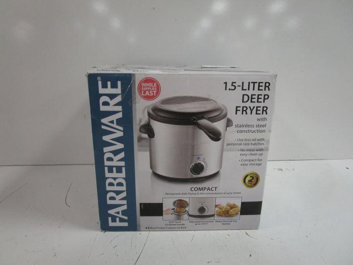 farberware deep fryer 1.5 liter instructions