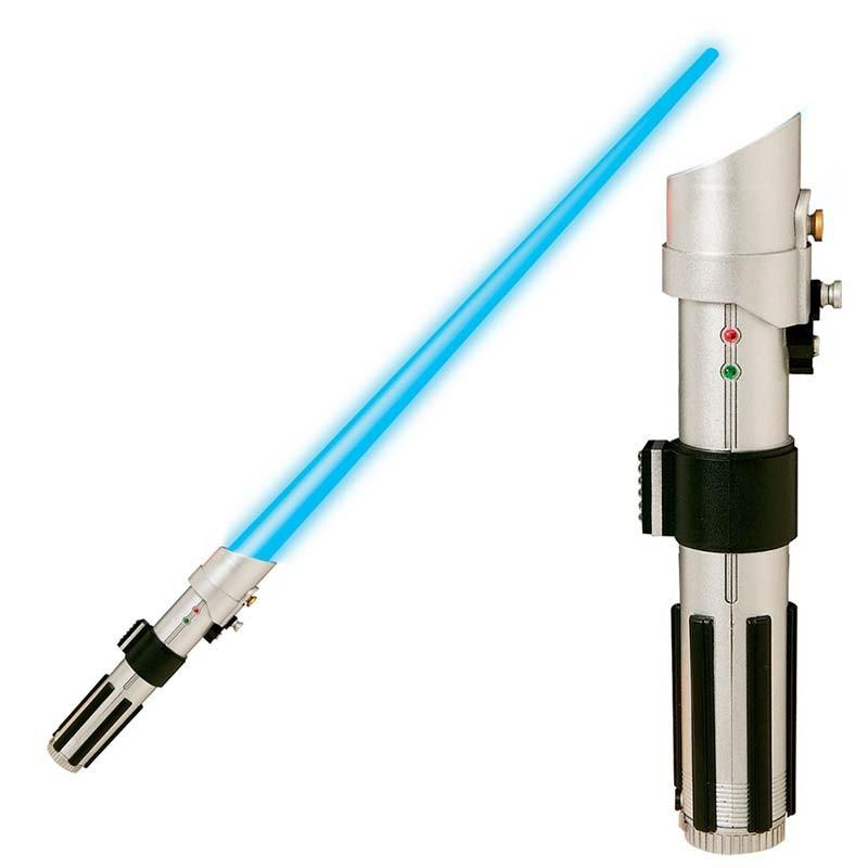 Star Wars Luke Skywalker Telescoping Light Saber Toy With Light Up Blade Blue Retail 12 99 Auction Auction Nation