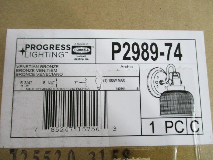 Progress Lighting Archie Collection 2 Light Venetian: Auction: WEST VALLEY, AZ Lighting
