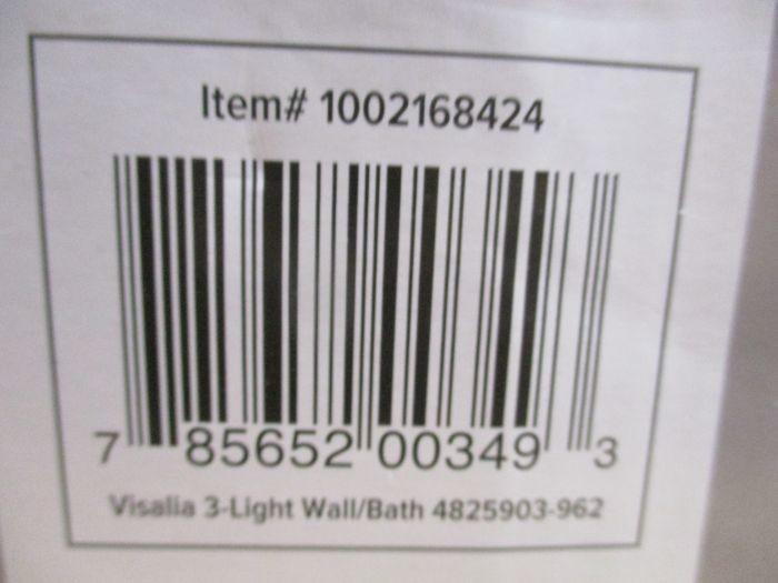 Sea Gull Lighting Windgate 9 In W 3 Light Brushed Nickel: Auction: WEST VALLEY, AZ Lighting